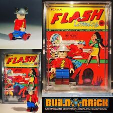 DC Custom Vintage Comic Flash Mini Action Figure w/ Display Case & Stand 358b
