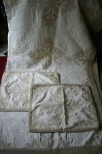 Martha Stewart MEMOIR Handcrafted Collectors Cotton Queen Quilt + Two STD Shams
