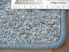 6898 Teppich 152x98 cm Kettelteppich blau meliert robust günstig Kettelteppich