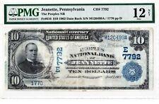 $10 1902 DB National JEANNETTE Pennsylvania PA--MEGA RARE--((Only 2 on Census))