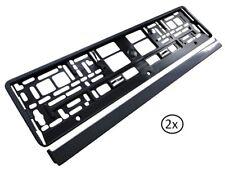 2x soporte de matrícula de matrícula soporte soporte de etiqueta carbon óptica! nuevo!