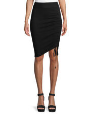 NWT!! T by Alexander Wang Ruched Merino Wool Pencil Skirt, Black, Size S