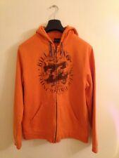 BILLABONG zip up orange hoodie size medium