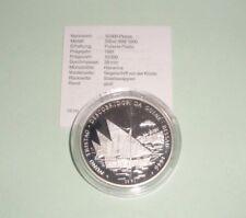 Guinea-Bissau 10000 Pesos 1991Karavelle von Nuno Tristão Silber .999 PP
