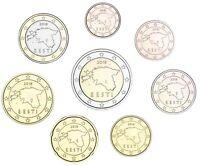 Estland KMS 2018 Euromünzen 1 Cent bis 2 Euro