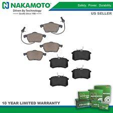 Nakamoto Front & Rear Ceramic Brake Pad Kit & for Audi A4 A6 Quattro VW Passat