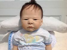 One of a kind polymer clay baby doll