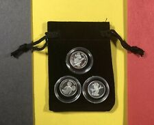3 Diff Walt Disney Mickey Mouse Rarities Silver Bullion Coins .999 Pure Fine
