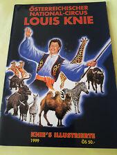 LOUIS KNIE - ÖSTERREICHISCHER NATIONAL CIRCUS - SAISON 1999 - PROGRAMME SOUVENIR