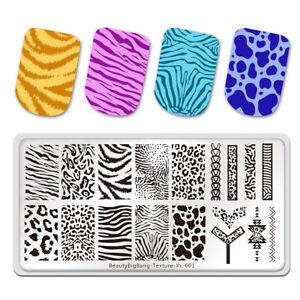Nail Stamping Plates BeautyBigBang Natural Animal Print Leopard Nail Art Stencil