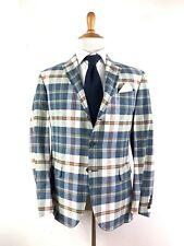 Polo Ralph Lauren Madras Blazer Sportcoat Made In USA 42R