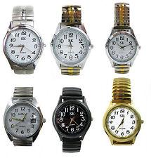 Zugband Uhr Herrenuhr Damenuhr bequemes Metall Flexarmband-Uhr Schwarz Weiß Gold
