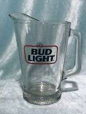 Vintage Bud Light Beer Pitcher Glass Large 9�