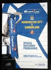 Manchester City v Sunderland   Capital One Cup Final  2-3-2014  vgc