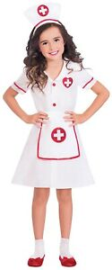 Girls Hospital Nurse Uniform Occupation Role Play Fancy Dress Costume 3-8 Years