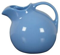 Vintage Hall Art Pottery Tilted Ball Light Blue Pitcher Carafe Ice Lip 533