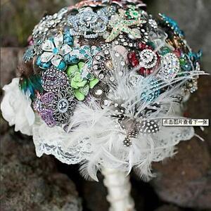 New 6pcs Bridal Wedding Flower Decoration Bouquet Foam Holder Handle