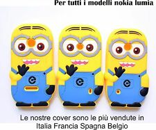 COVER Custodia Case minion per Nokia lumia 520 525 530 535 532 640XL 730 830 930