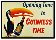 VINTAGE POSTER (GUINNESS TIME) - FUN SOUVENIR NOVELTY FRIDGE MAGNET - GIFT - NEW