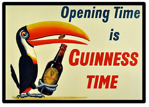 VINTAGE POSTER (GUINNESS TIME) - FUN SOUVENIR NOVELTY FRIDGE MAGNET / NEW / GIFT