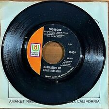 DAMNATION OF ADAM BLESSING, COOKBOOK / MORNING DEW, 45rpm PSYCHEDELIC GARAGE