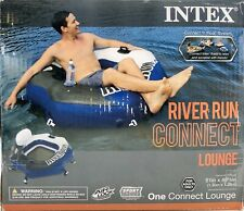Intex River Run Connect Lounge Inflatable Floating Tube Raft FAST FREE SHIPPING