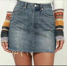We the Free by Free People Miniskirt Size 29 Rugged A-Line Denim