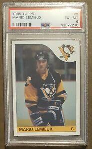 1985 Topps Hockey #9 Mario Lemieux Rookie card PSA 6 Ex-Mt! Pittsburgh Penguins!