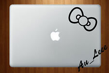 Macbook Air Pro Vinyl Skin Sticker Decal Hello Kitty Cat Cute Bow Tie M212