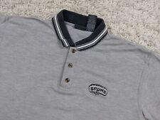 Vintage Pro Edge San Antonio Spurs Polo Shirt Men Large Gray NBA Basketball