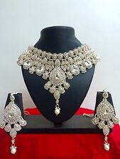 Indian Bollywood Style Fashion Rose Gold Plated Beautiful Jewelry Necklace Set