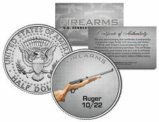 RUGER 10/22 Gun Firearm JFK Kennedy Half Dollar US Colorized Coin