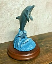 """Wyland Dolphin Figurine Inspired by """"In the Company of Dolphins"""" by Encore"""
