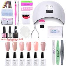 Pro UV Gel Nail Polish Kit Starter Nail Lamp Base Top Coat Manicure Set Tools