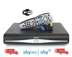 SKY PLUS + HD BOX WIFI 1tb SKY AMSTRAD DRX890-C BUILT IN WiFi, Remote And Lead