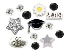 Graduate Graduation 2018 Cap Star 14pc Floating Charms for Floating Lockets