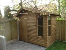 8x6 OFF SET  SUMMER LOGCABIN (WENDY HOUSE )(PLAY HOUSE)(WOODEN GARDEN SHED)