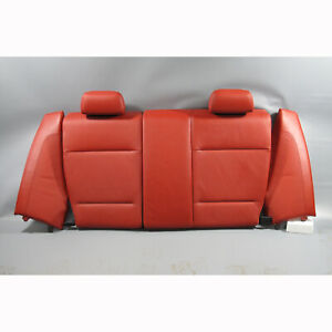 2008-2013 BMW E82 1-Series Coupe Coral Red Leather Folding Rear Seat Back OEM
