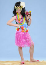 Kids Size Hawaiian Pink Hula Grass Skirt
