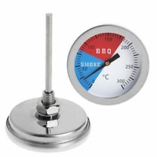 Barbecue BBQ Smoker Grill Thermometer Temperature Gauge 300℃ 304 Stainless Steel