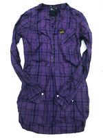 Womens G-Star Shirt 'ROSE OD SHIRT WMN L/S' Purple Dress Shirt Size XS