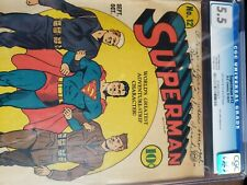 Superman #12 , CGC 5.5 1941 extremely rare! Dc comics! Beautiful case!