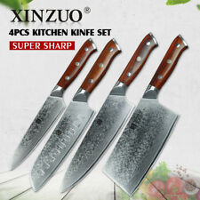 Knife Set Kitchen Knives Damascus Steel Layers Chef Cleaver Santoku Utility Chop