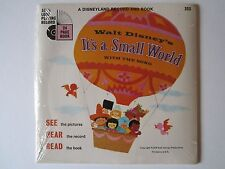 RARE 1968 NIP Disneyland Record and Book It's a Small World (33 1/2 RPM) Sealed