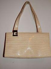 Chic Guess handbag creme/ beige reptile/croc faux leather med. shoulder/hand bag