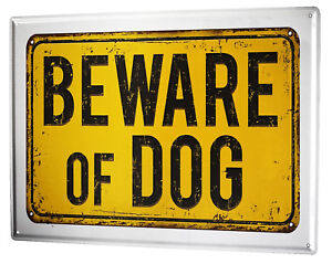 Tin Sign XXL Dog  Beware dog