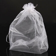 Wholesale 50Pcs Organza Gift Bags Jewelry Pouches Wedding Favor White 20x30cm
