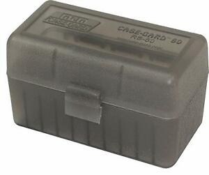 MTM PLASTIC AMMO BOX, SMOKE 50 Round 223 / 5.56 / MORE - BUY 5 GET 1 FREE