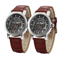 Mode Herren Uhren Skelettuhr Automatik Mechanische Uhr Armbanduhr Automatikuhren
