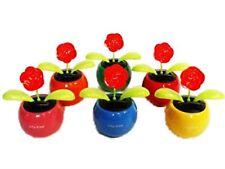 HAAC 2er Set Solar Wackelblume Blume Rose rot